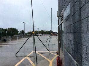 80m Dipole on Hospital Parking Garage
