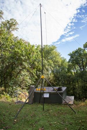 Antenna, crossed 80/40 m dipoles