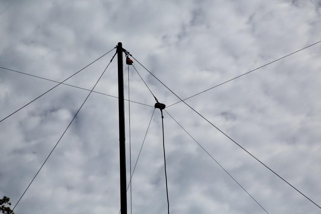 Top of antenna mast
